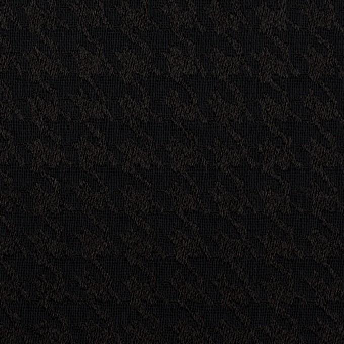 レーヨン×千鳥格子(ブラック)×二重織ジャガード イメージ1