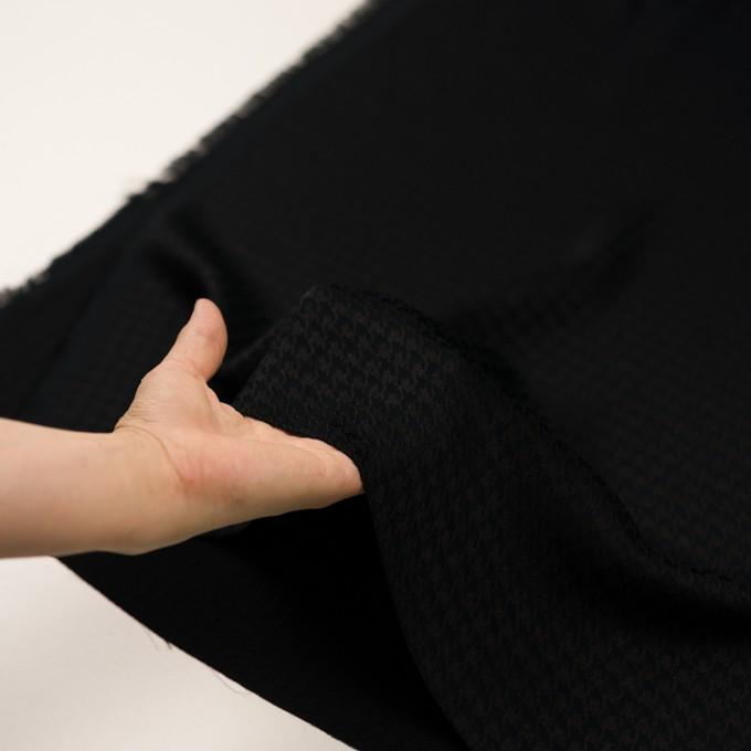 レーヨン×千鳥格子(ブラック)×二重織ジャガード イメージ5