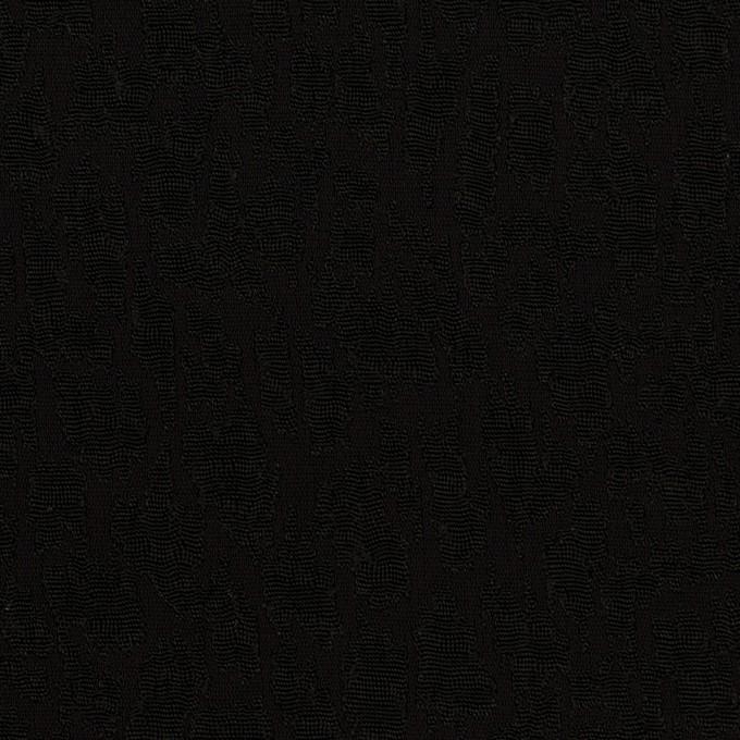 レーヨン×幾何学模様(ブラック)×フクレジャガード イメージ1