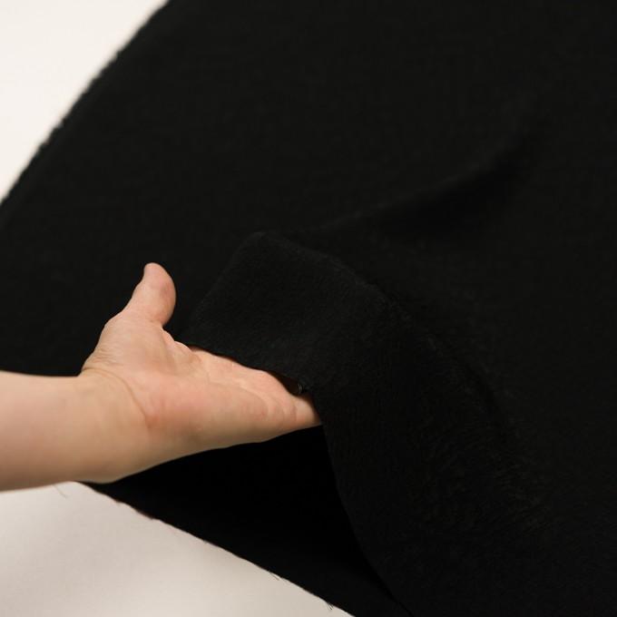 レーヨン×幾何学模様(ブラック)×フクレジャガード イメージ5