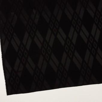 トリアセテート&ポリエステル×ダイヤ(ブラック)×サテンジャガード サムネイル2
