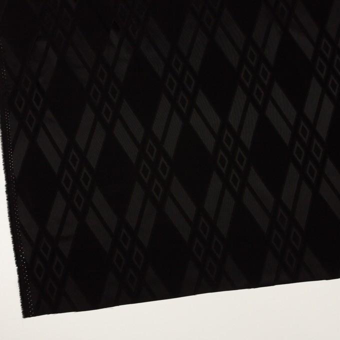 トリアセテート&ポリエステル×ダイヤ(ブラック)×サテンジャガード イメージ2