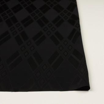 トリアセテート&ポリエステル×ダイヤ(ブラック)×サテンジャガード サムネイル3