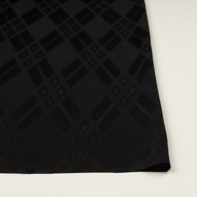 トリアセテート&ポリエステル×ダイヤ(ブラック)×サテンジャガード イメージ3