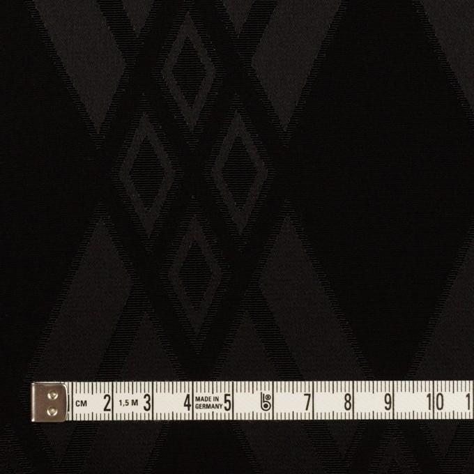 トリアセテート&ポリエステル×ダイヤ(ブラック)×サテンジャガード イメージ4