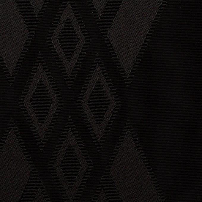 トリアセテート&ポリエステル×ダイヤ(ブラック)×サテンジャガード イメージ1