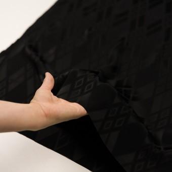 トリアセテート&ポリエステル×ダイヤ(ブラック)×サテンジャガード サムネイル5