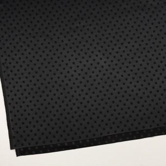 ポリエステル&ポリウレタン×ドット(ブラック)×サテンジャガード・ストレッチ サムネイル2