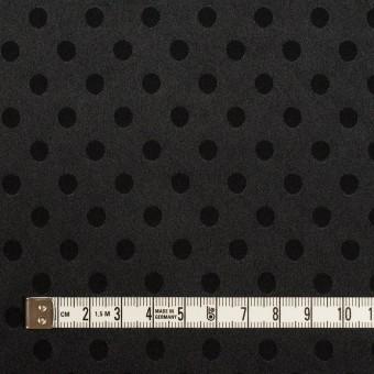 ポリエステル&ポリウレタン×ドット(ブラック)×サテンジャガード・ストレッチ サムネイル4
