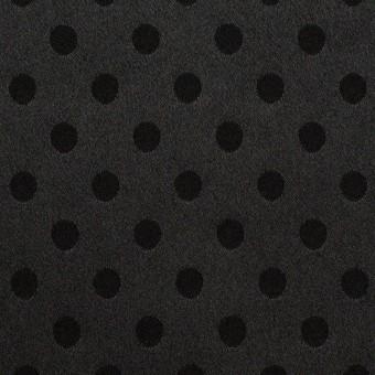 ポリエステル&ポリウレタン×ドット(ブラック)×サテンジャガード・ストレッチ サムネイル1