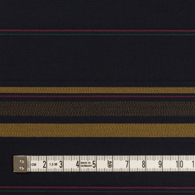 コットン×ボーダー(ブルーブラック&オーカー)×ブロードジャガード イメージ4