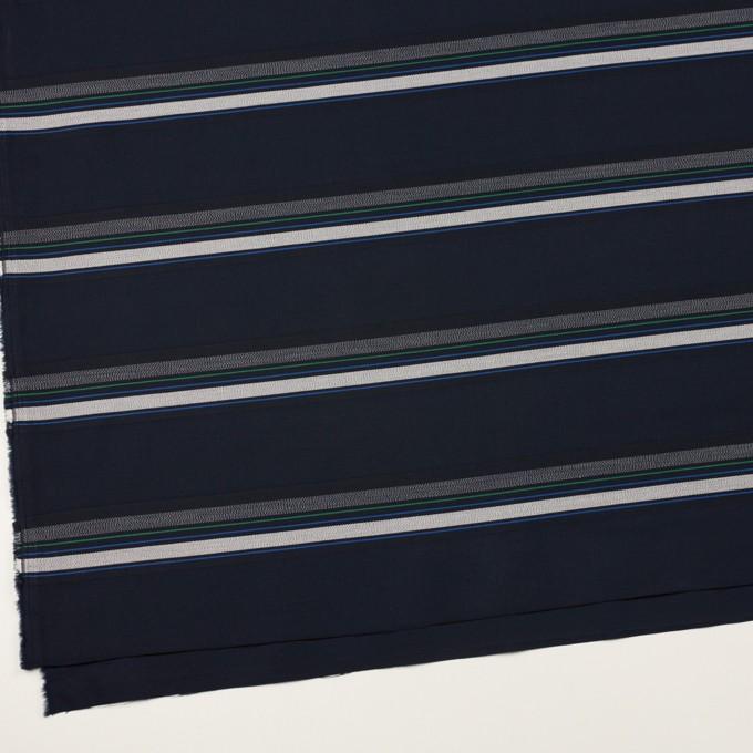コットン×ボーダー(ダークネイビー&ネイビー)×ブロードジャガード イメージ2
