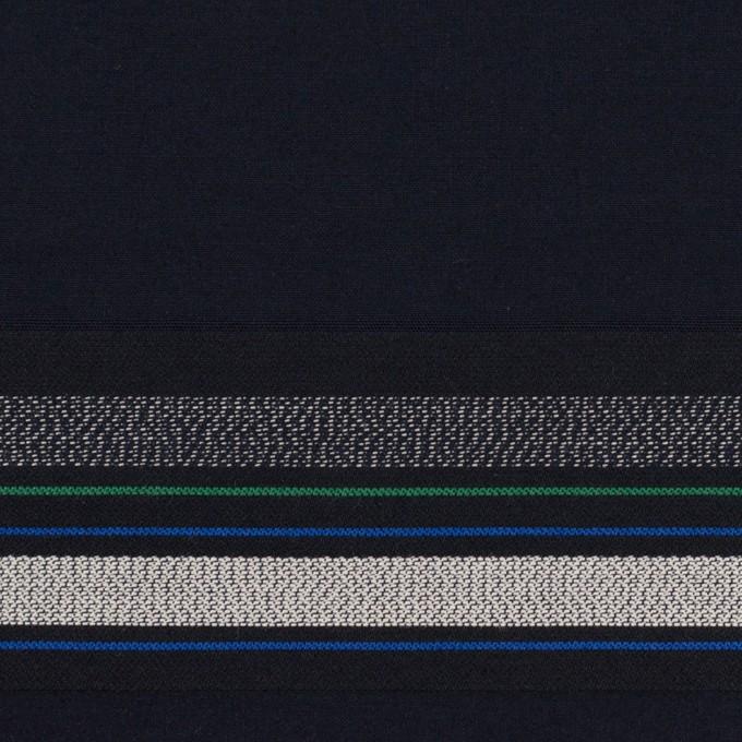 コットン×ボーダー(ダークネイビー&ネイビー)×ブロードジャガード イメージ1