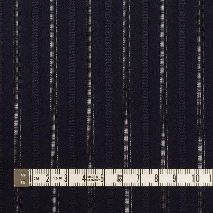 ポリエステル&レーヨン混×ストライプ(ネイビー)×ジャガード・ストレッチ イメージ4