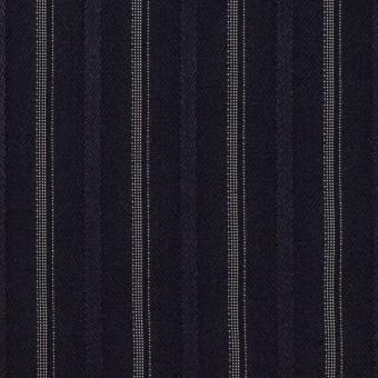 ポリエステル&レーヨン混×ストライプ(ネイビー)×ジャガード・ストレッチ サムネイル1