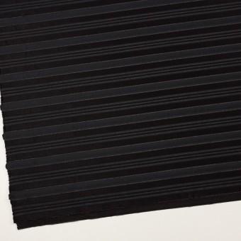 ポリエステル&レーヨン×ボーダー(チャコール&ブラック)×ジャガード サムネイル2