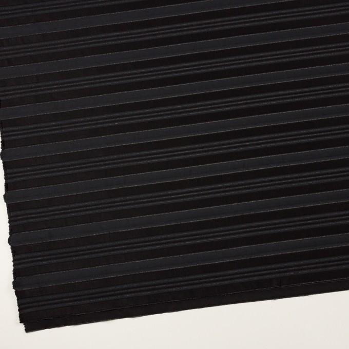 ポリエステル&レーヨン×ボーダー(チャコール&ブラック)×ジャガード イメージ2