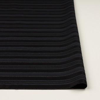 ポリエステル&レーヨン×ボーダー(チャコール&ブラック)×ジャガード サムネイル3