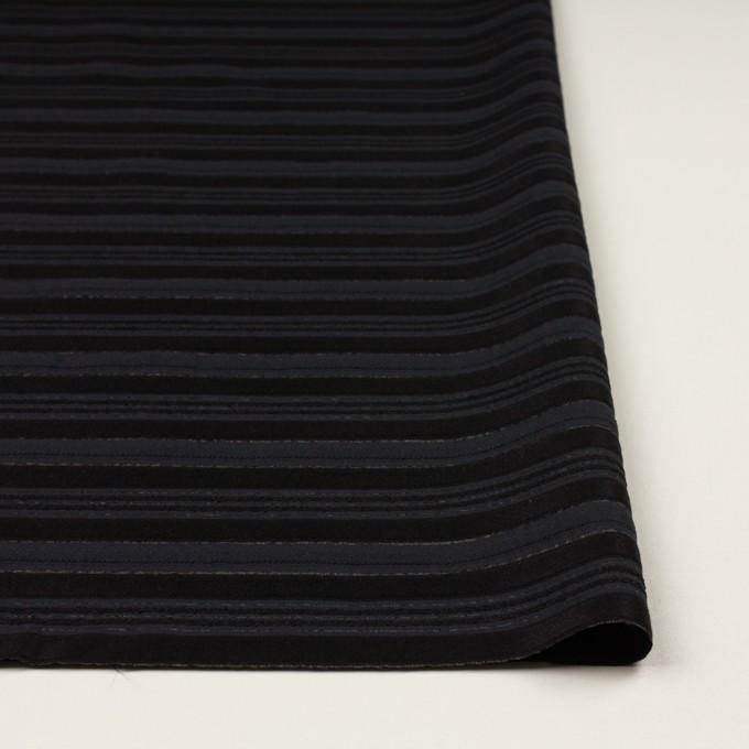 ポリエステル&レーヨン×ボーダー(チャコール&ブラック)×ジャガード イメージ3