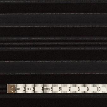 ポリエステル&レーヨン×ボーダー(チャコール&ブラック)×ジャガード サムネイル4