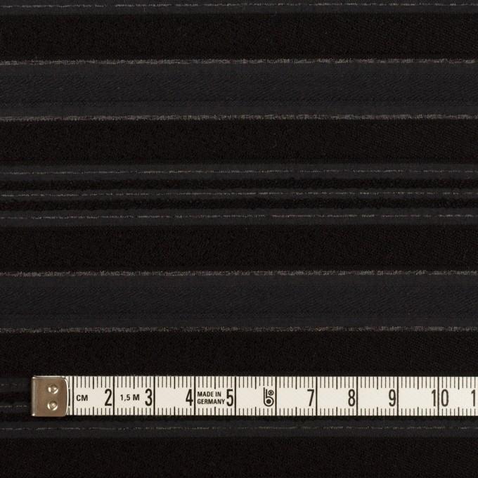 ポリエステル&レーヨン×ボーダー(チャコール&ブラック)×ジャガード イメージ4