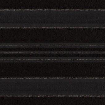 ポリエステル&レーヨン×ボーダー(チャコール&ブラック)×ジャガード サムネイル1