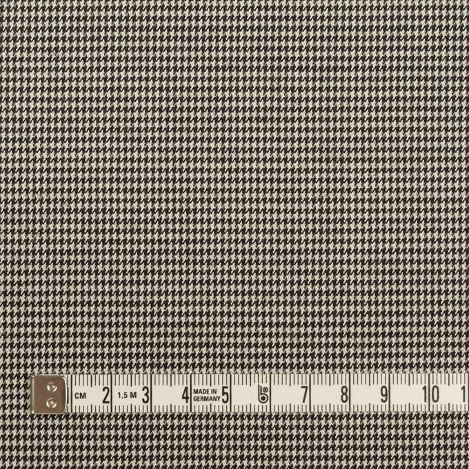 ウール&ポリウレタン×チェック(エクリュ&ブラック)×千鳥格子ストレッチ イメージ4