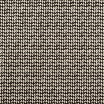 ウール&ポリウレタン×チェック(エクリュ&ブラック)×千鳥格子ストレッチ サムネイル1