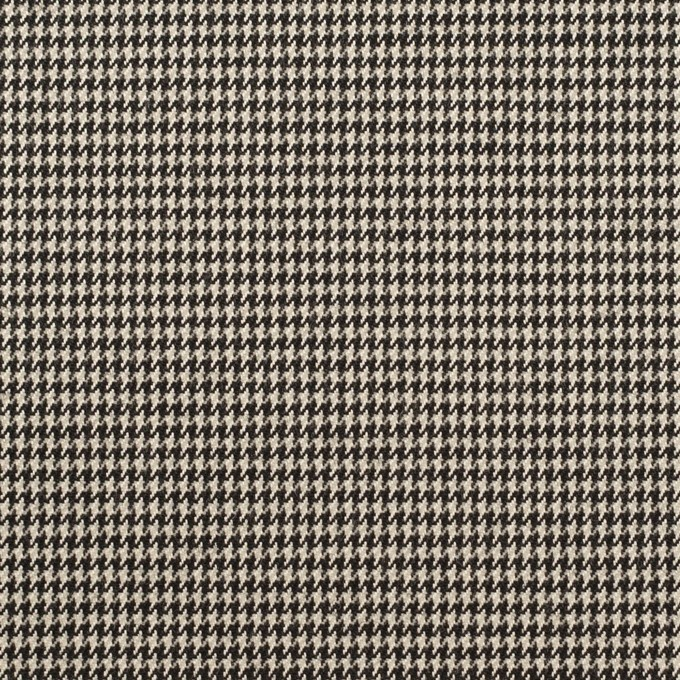 ウール&ポリウレタン×チェック(エクリュ&ブラック)×千鳥格子ストレッチ イメージ1