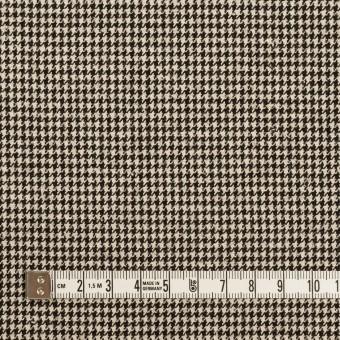 ウール&コットン×チェック(エクリュ&ブラック)×千鳥格子 サムネイル4