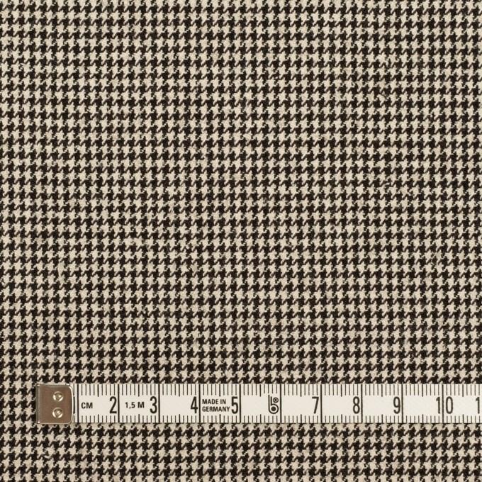 ウール&コットン×チェック(エクリュ&ブラック)×千鳥格子 イメージ4
