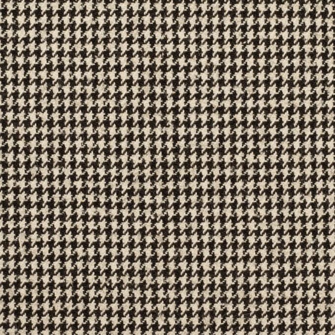 ウール&コットン×チェック(エクリュ&ブラック)×千鳥格子 イメージ1