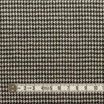 ウール&ポリウレタン×チェック(エクリュ&チャコールブラック)×千鳥格子ストレッチ サムネイル4
