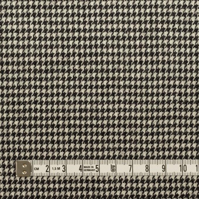 ウール&ポリウレタン×チェック(エクリュ&チャコールブラック)×千鳥格子ストレッチ イメージ4