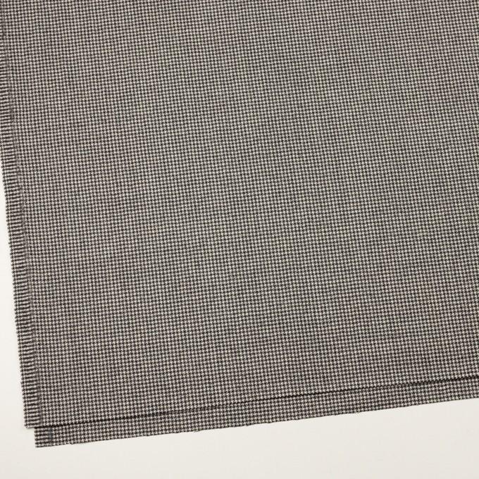 ウール×チェック(アイボリー&チャコール)×千鳥格子 イメージ2