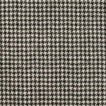 ウール×チェック(アイボリー&チャコール)×千鳥格子 サムネイル1
