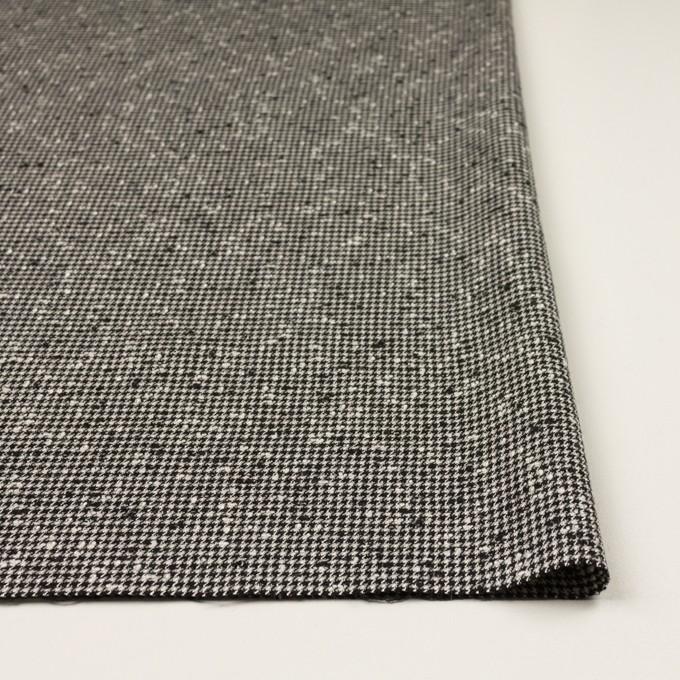 ウール&ナイロン混×千鳥格子(アイボリー&ブラック)×ファンシーツイード・ストレッチ イメージ3