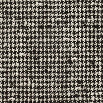 ウール&ナイロン混×千鳥格子(アイボリー&ブラック)×ファンシーツイード・ストレッチ サムネイル1