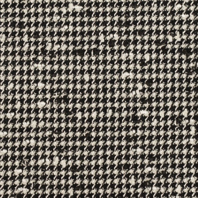 ウール&ナイロン混×千鳥格子(アイボリー&ブラック)×ファンシーツイード・ストレッチ イメージ1