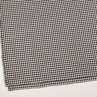 ウール&レーヨン×チェック(エクリュ&ブラック)×千鳥格子 サムネイル2