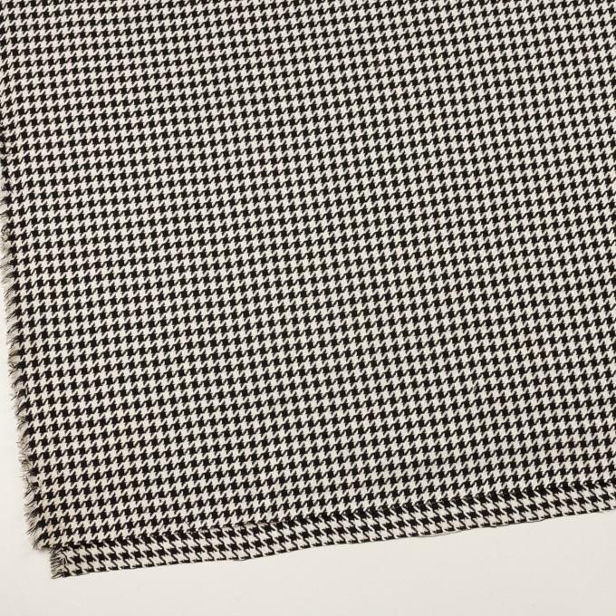 ウール&レーヨン×チェック(エクリュ&ブラック)×千鳥格子 イメージ2