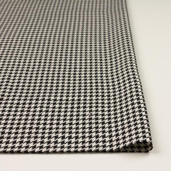 ウール&レーヨン×チェック(エクリュ&ブラック)×千鳥格子 イメージ3