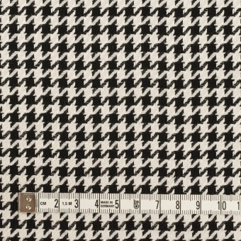 ウール&レーヨン×チェック(エクリュ&ブラック)×千鳥格子 サムネイル4