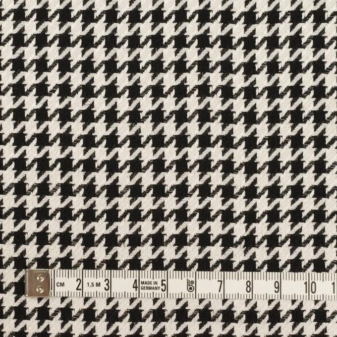 ウール&レーヨン×チェック(エクリュ&ブラック)×千鳥格子 イメージ4