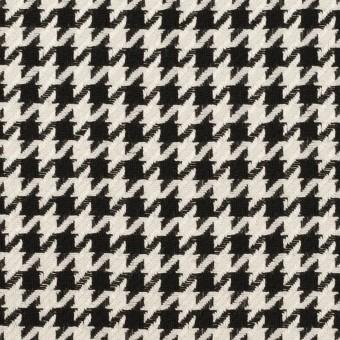 ウール&レーヨン×チェック(エクリュ&ブラック)×千鳥格子