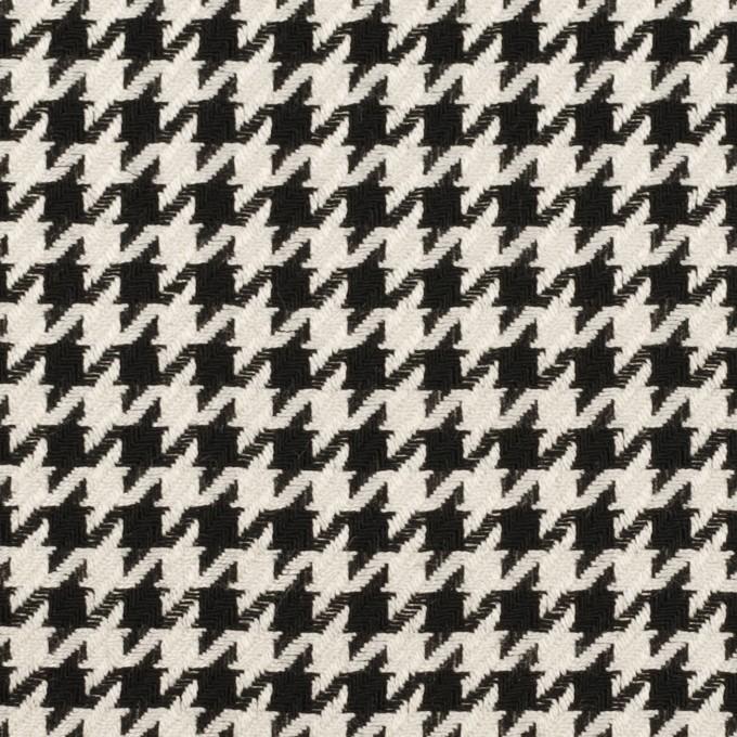 ウール&レーヨン×チェック(エクリュ&ブラック)×千鳥格子 イメージ1
