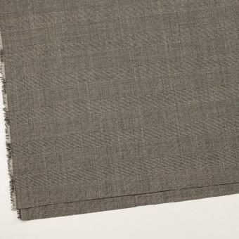 ウール×チェック(エクリュ&チャコール)×かわり織 サムネイル2