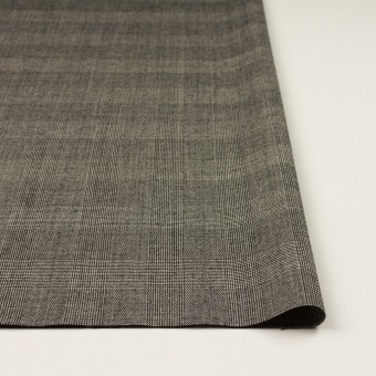ウール×チェック(エクリュ&チャコール)×かわり織 サムネイル3