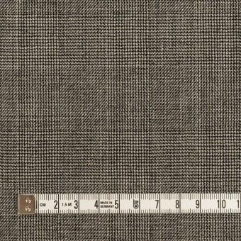 ウール×チェック(エクリュ&チャコール)×かわり織 サムネイル4