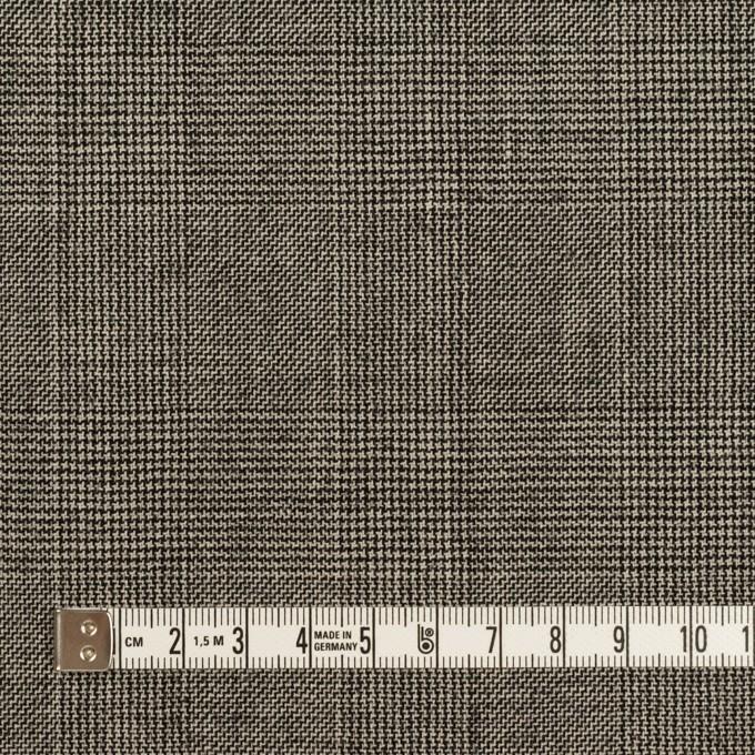 ウール×チェック(エクリュ&チャコール)×かわり織 イメージ4